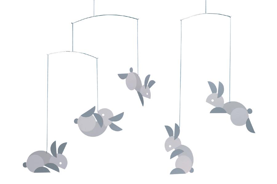 FLENSTED mobiles(フレンステッドモビール) 北欧デンマークモビール Circular Bunnies ウサギ