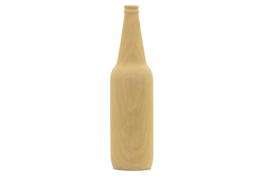 CHLOROS(クロロス) チーク材天然木のワインボトルオブジェ Lサイズ
