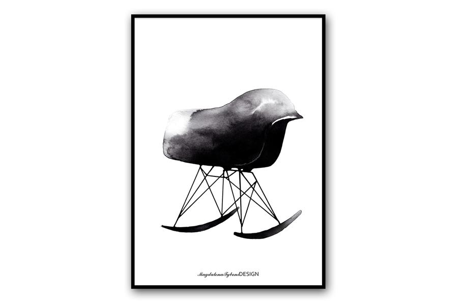 Magdalena Tyboni Design ポスター/アートプリント 30 x 40 cm Rocking chair
