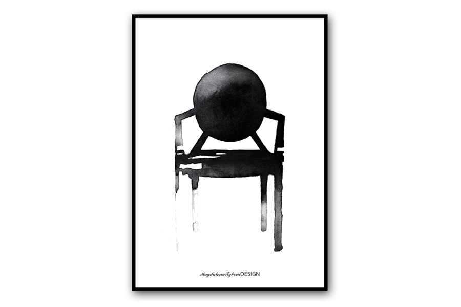 Magdalena Tyboni Design ポスター/アートプリント 30 x 40 cm Chair Ghost