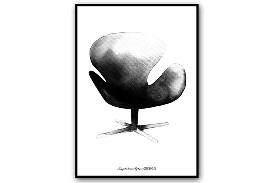 Magdalena Tyboni Design ポスター/アートプリント 50 x 70 cm Swan