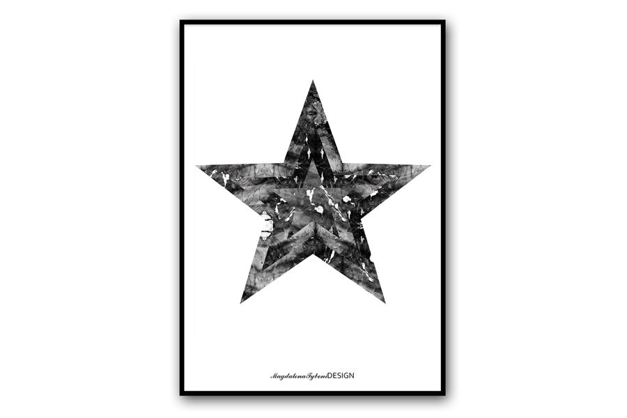 Magdalena Tyboni Design ポスター/アートプリント 30 x 40 cm Stjarnan