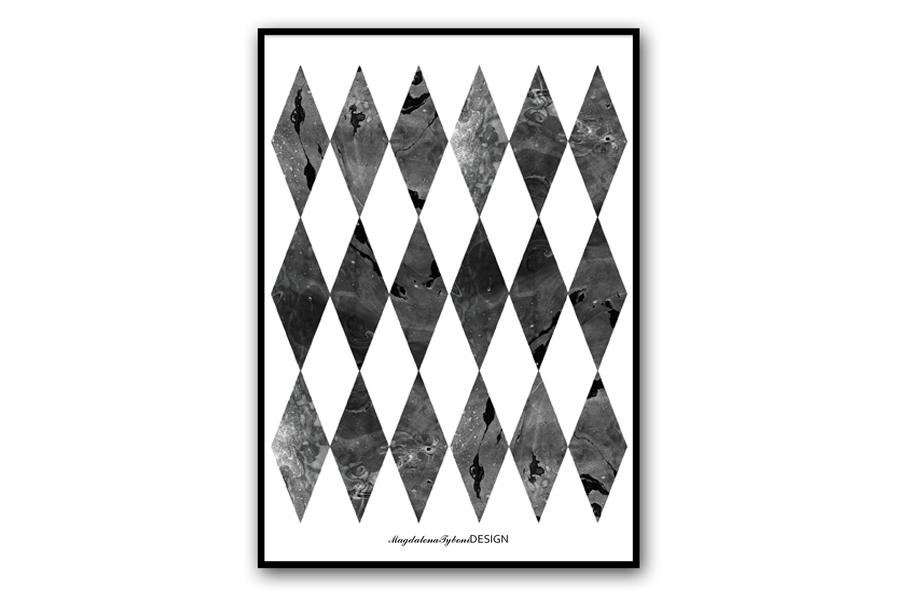Magdalena Tyboni Design ポスター/アートプリント 30 x 40 cm Harlekin