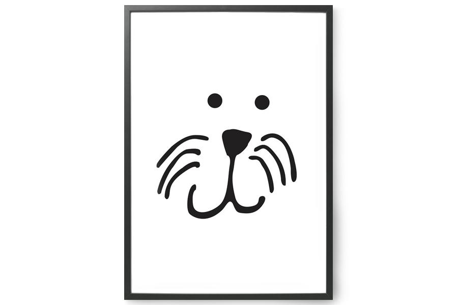 TELLKIDDO ポスター/アートプリント 50×70 Animal face: Lion