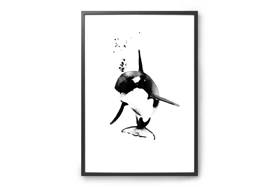 Magdalena Tyboni Design ポスター/アートプリント 30 x 40 cm MINI KILLER WHALE