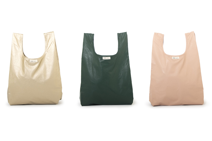 MONK&ANNA PUレザー/ナイロン製 シンプルなショッピングバッグ Monk Bag Limited