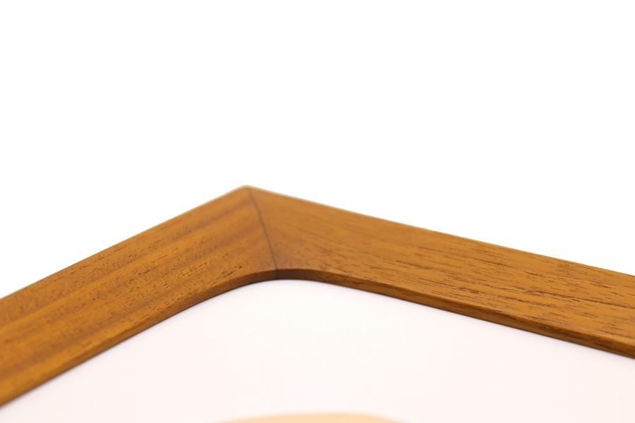 CHLOROS(クロロス) チーク無垢材天然木のポスターフレーム 50x70cm
