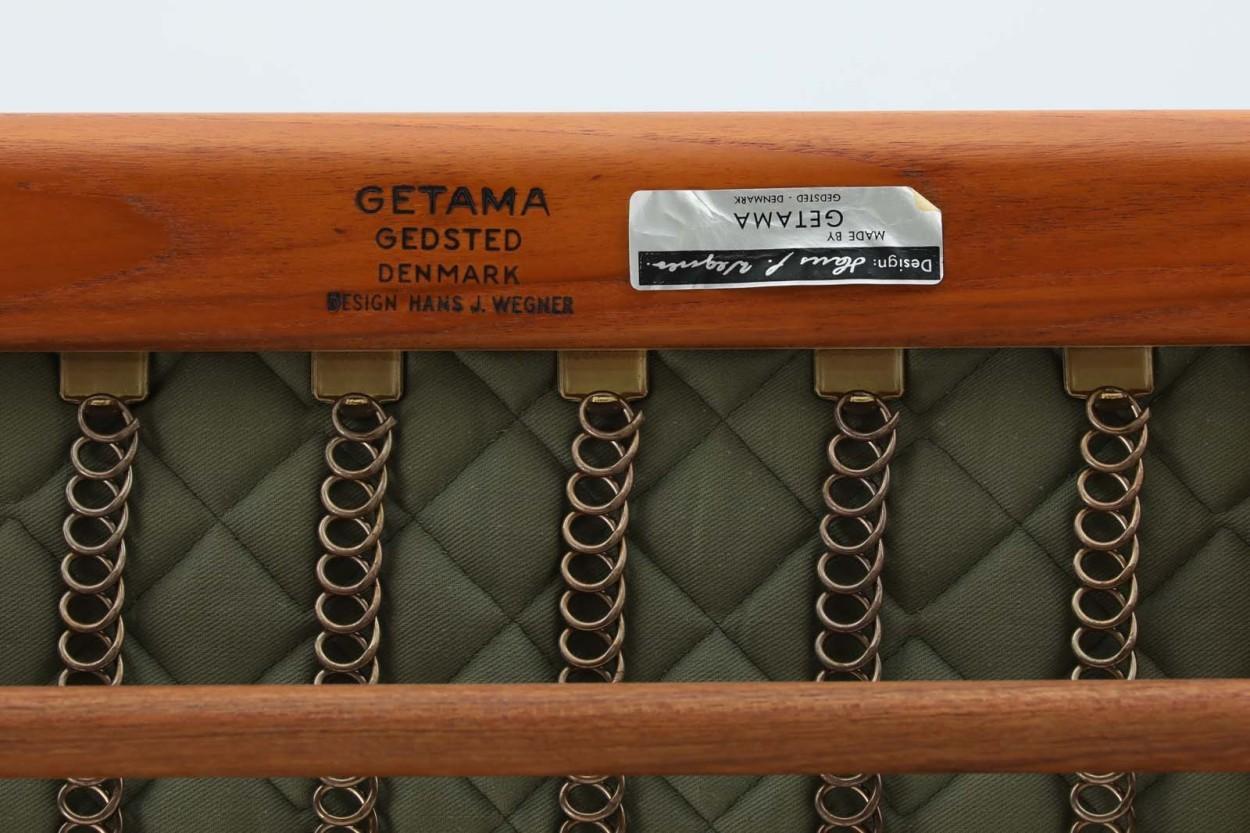 北欧家具ビンテージ GE290 ハイバックソファ チーク材 Hans J.Wegner(ハンス・J・ウェグナー) GETAMA/ゲタマ/DK9605