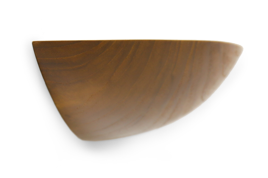 CHLOROS(クロロス) チーク無垢材のオーバル型のウォールシェルフ Mサイズ