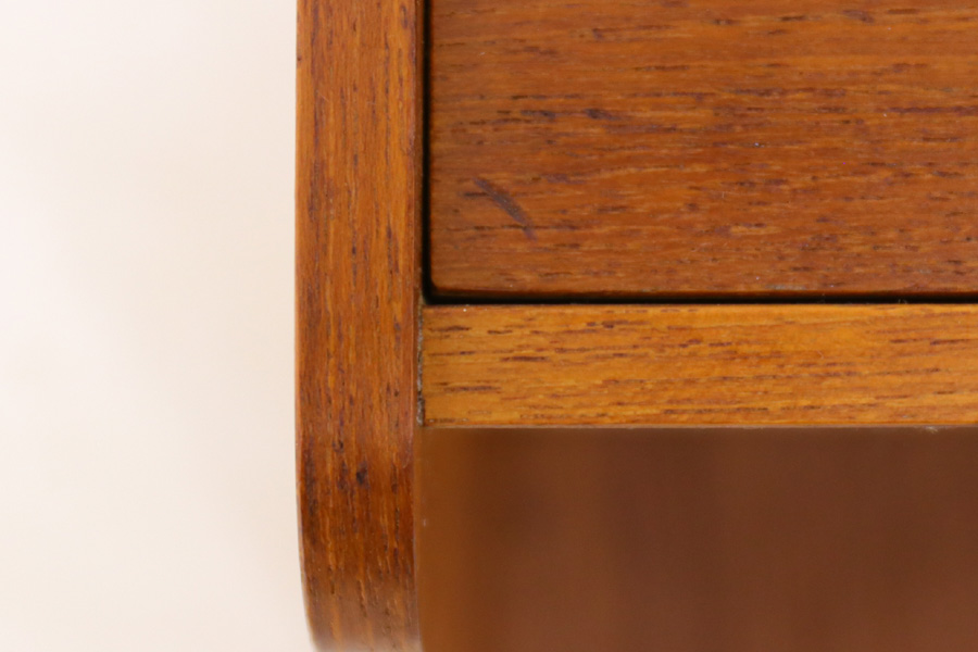 デンマーク製 壁掛けシェルフ 引出付 北欧家具ビンテージ/DK9172