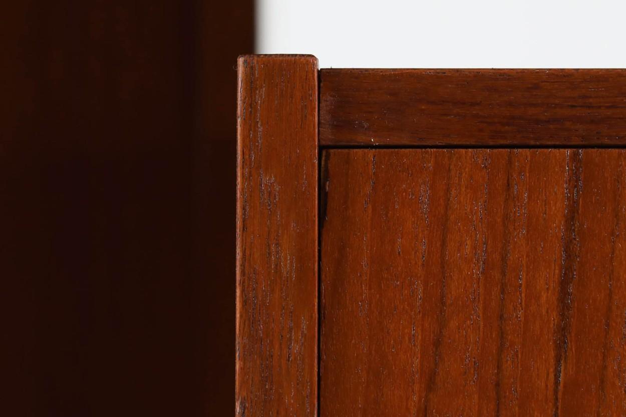 デンマーク製 両袖デスク チーク材 北欧家具ビンテージ/DK10948