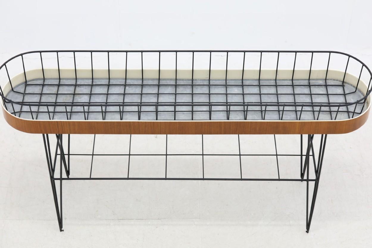 スウェーデン製 チーク材 幅が広めのプランター 北欧家具ビンテージ/DK10727