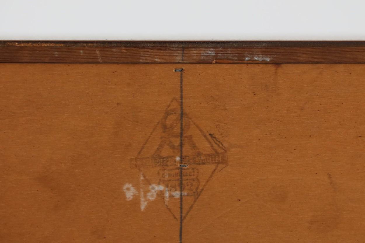デンマーク製 ライティングビューロ/机 鏡付き チーク材 北欧家具ビンテージ/DK10908
