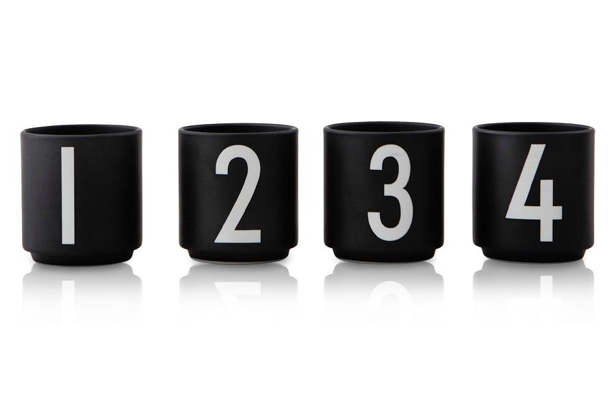 DESIGN LETTERS(デザインレターズ) Arne Jacobsen アルネ ヤコブセン ポーセリン製 エスプレッソカップ 4個セット ブラック