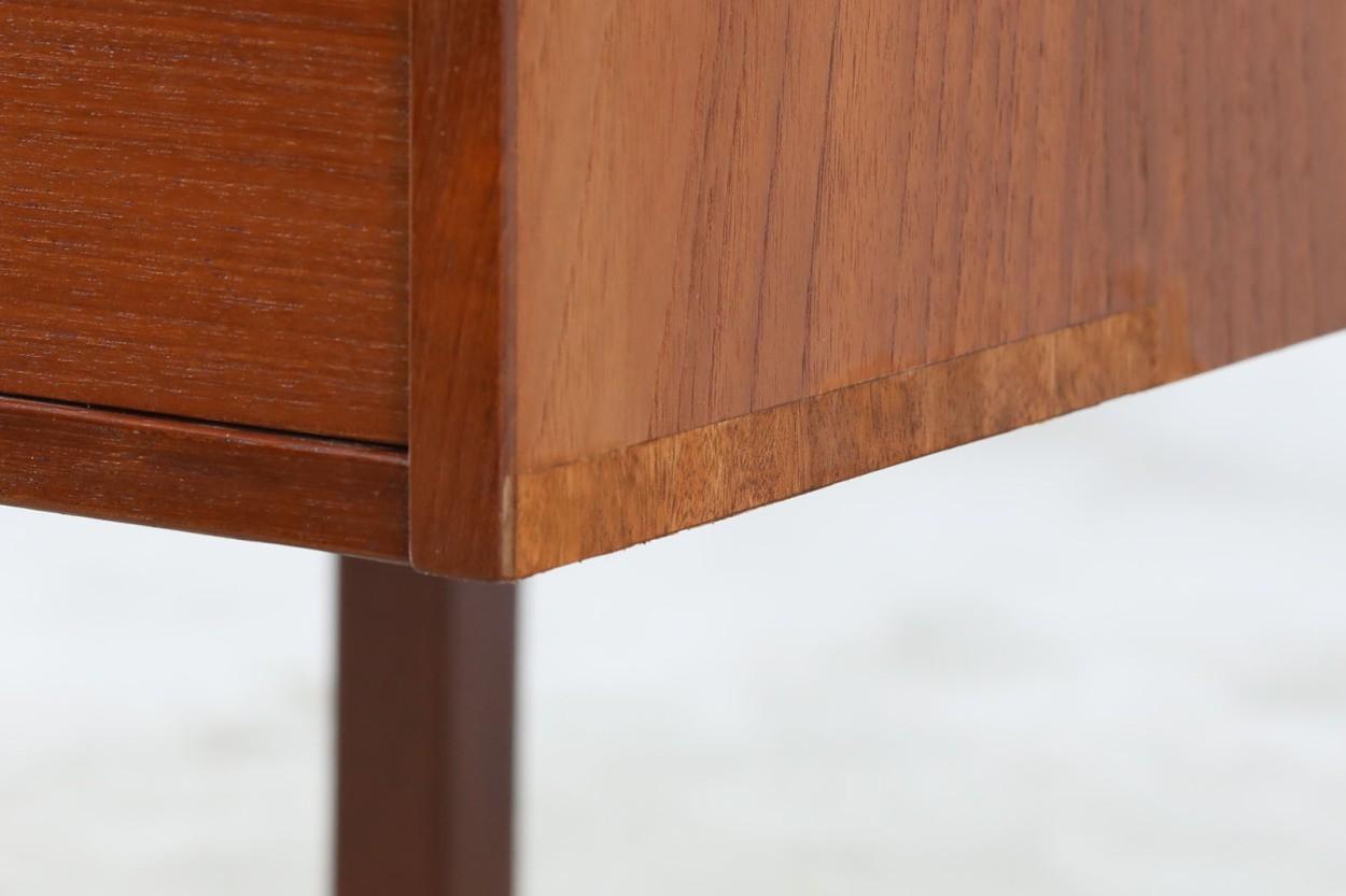 デンマーク製 両袖デスク/机 チーク材 北欧家具ビンテージ/DK10949