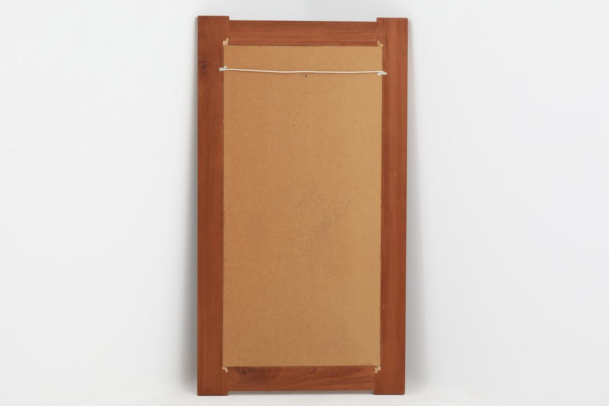 デンマーク製 チーク材 タイルミラー 立掛け 高さ110cm 北欧家具ビンテージ/DK12200