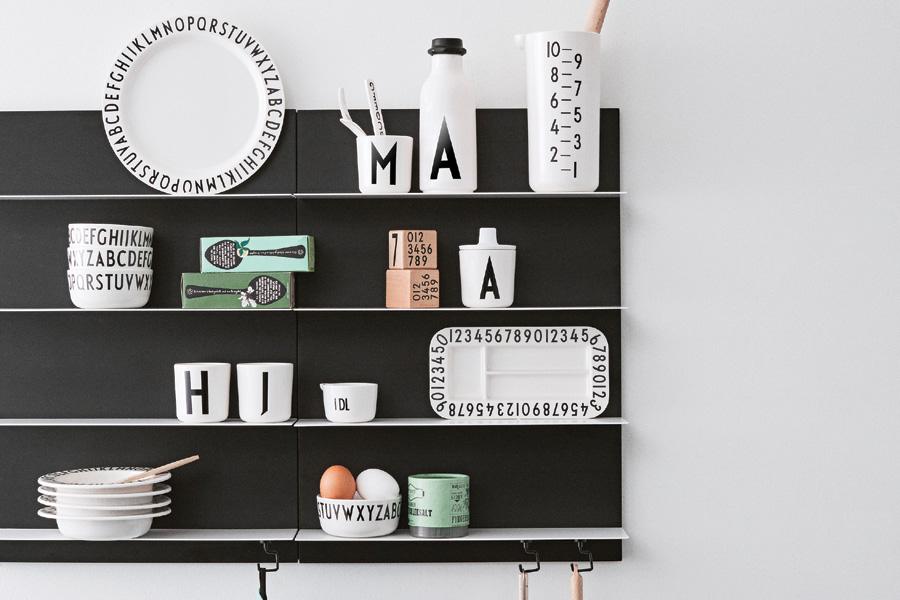 DESIGN LETTERS(デザインレターズ) Arne Jacobsen アルネ ヤコブセン メラミン製 ディナープレート LARGE 直径24cm