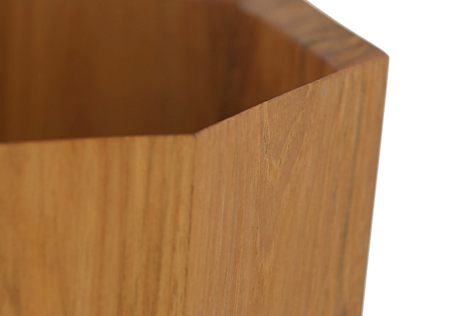 CHLOROS(クロロス) チーク無垢材を使用した八角形のダストボックス/ゴミ箱
