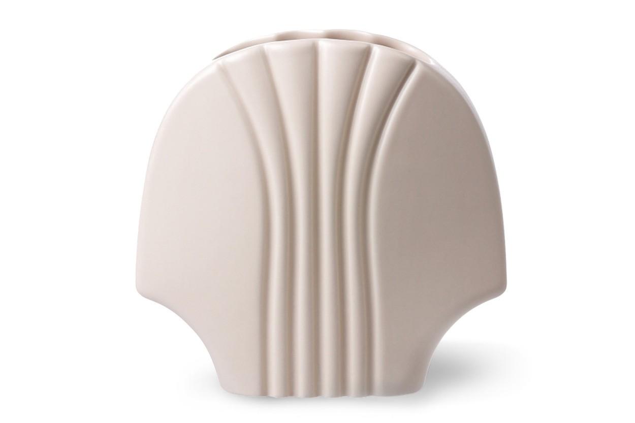 HKliving セラミック製デザインフラワーベース マットカラー 高さ18cm