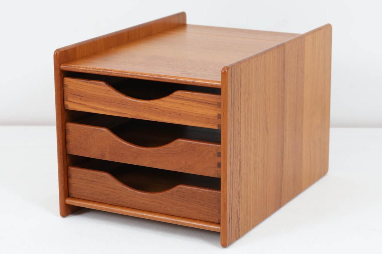 デンマーク製 チーク無垢材 小物入れ 北欧家具ビンテージ/DK12420