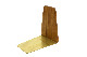 CHLOROS(クロロス) チーク無垢材と真鍮のブックエンド Mサイズ