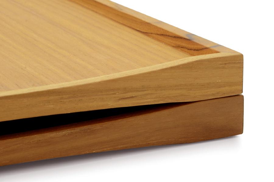 CHLOROS(クロロス) チーク材天然木のリバーシブルトレイ Mサイズ