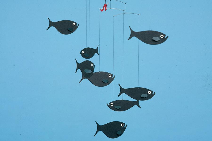 FLENSTED mobiles(フレンステッドモビール) 北欧デンマークモビール Shoal of Fish 魚釣り