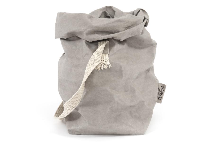 UASHMAMA セルロース 100% 洗えるペーパーハンドバッグ ワンハンドル モノクロ