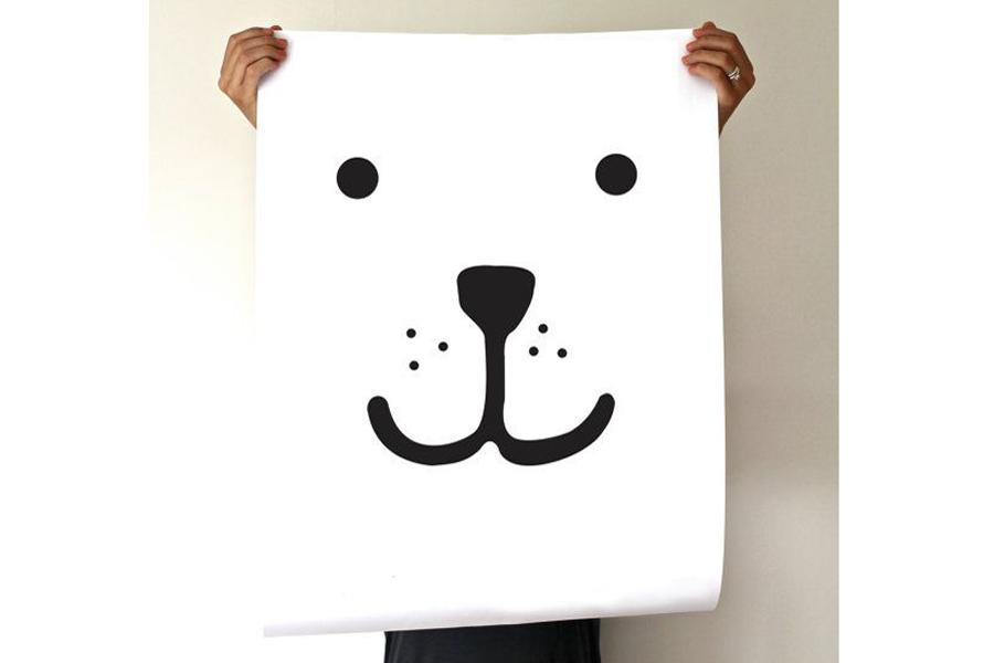 TELLKIDDO ポスター/アートプリント 50×70 Animal face: Bear