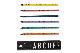 DESIGN LETTERS(デザインレターズ) Arne Jacobsen アルネ ヤコブセン クレヨン/色鉛筆 アルファベット 15色セット