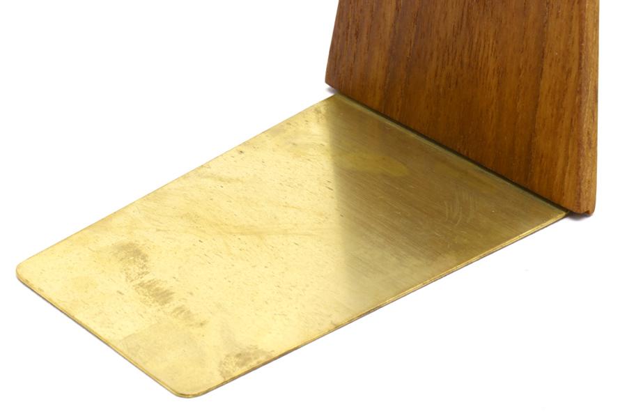 CHLOROS(クロロス) チーク無垢材と真鍮のブックエンド Lサイズ
