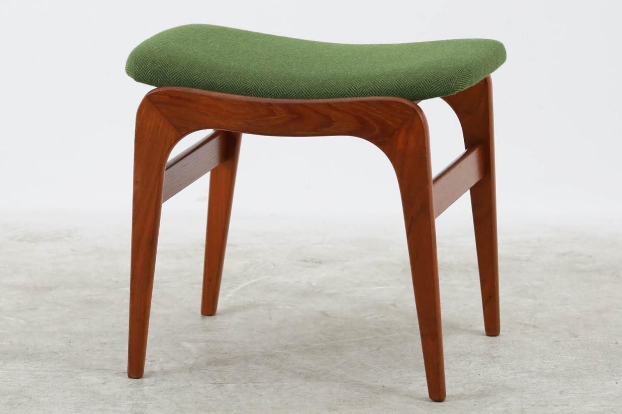 デンマーク製 スツール チーク材 北欧家具ビンテージ/DK11103