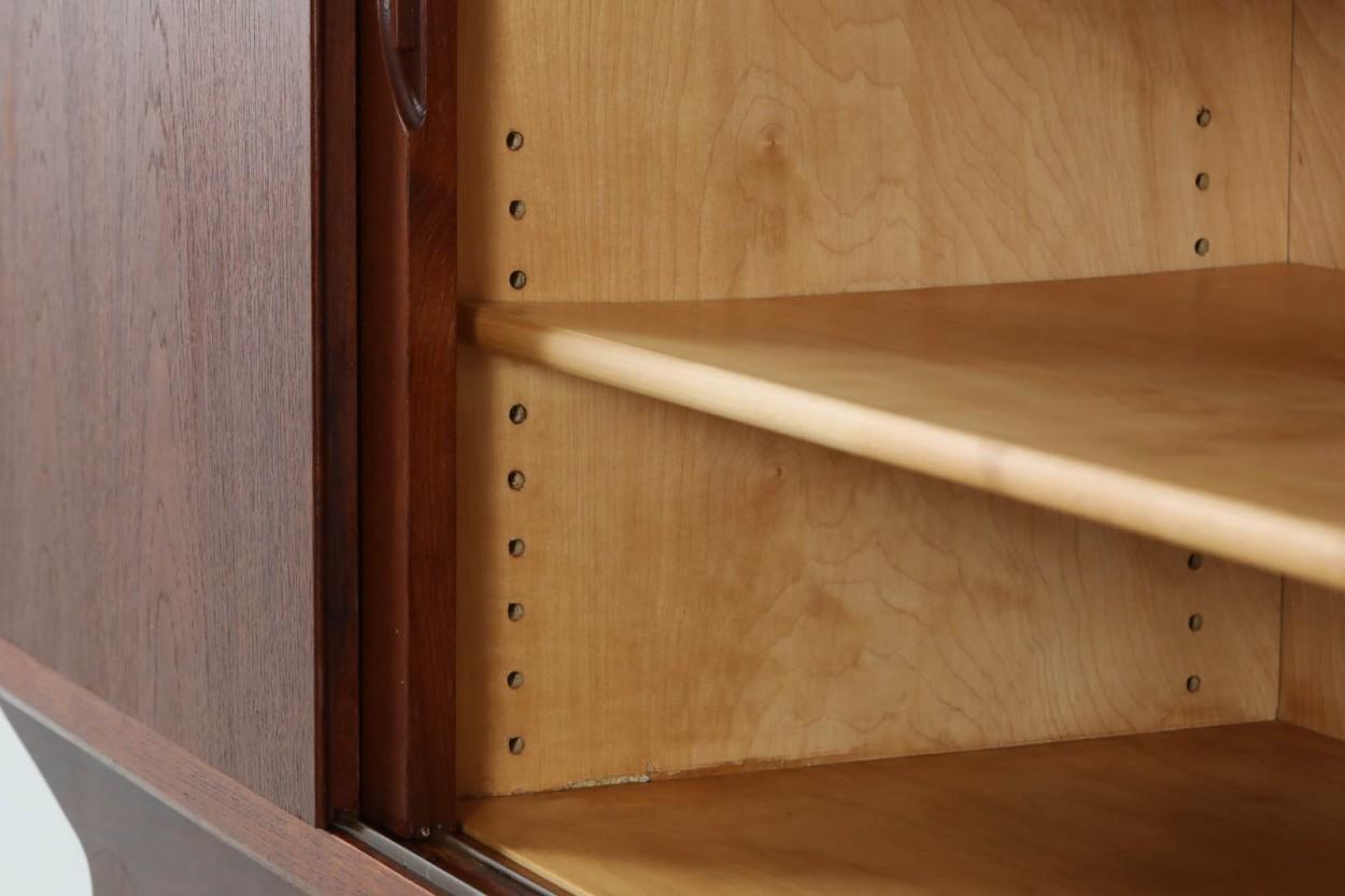 デンマーク製 ローボード/サイドボード チーク材 北欧家具ビンテージ/DK11133