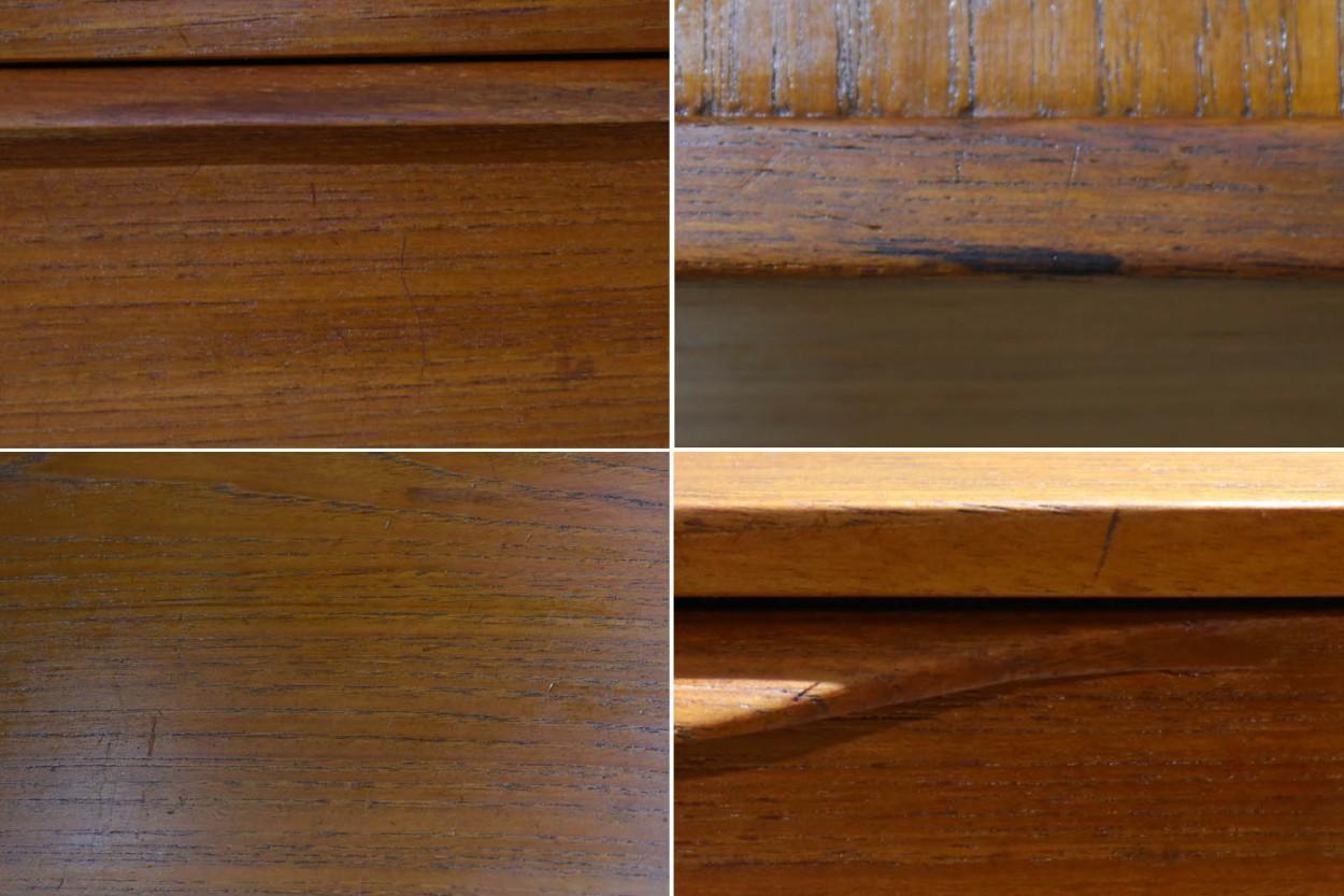 デンマーク製 お洒落なデザイン 3段チェスト/収納家具 チーク材 北欧家具ビンテージ/DK11174