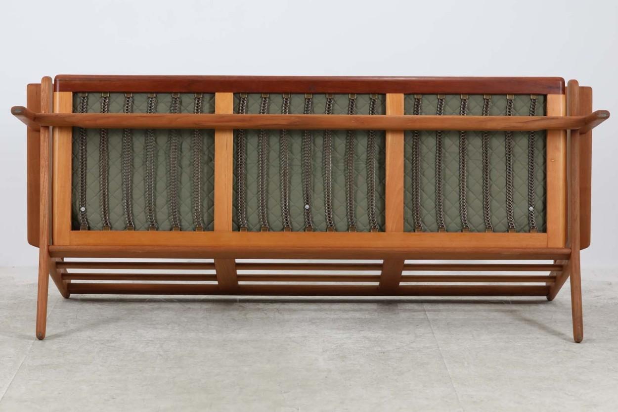 【送料無料】北欧家具ビンテージ GE290 トリプルソファ チーク材 Hans J.Wegner(ハンス・J・ウェグナー) GETAMA/ゲタマ/DK8579