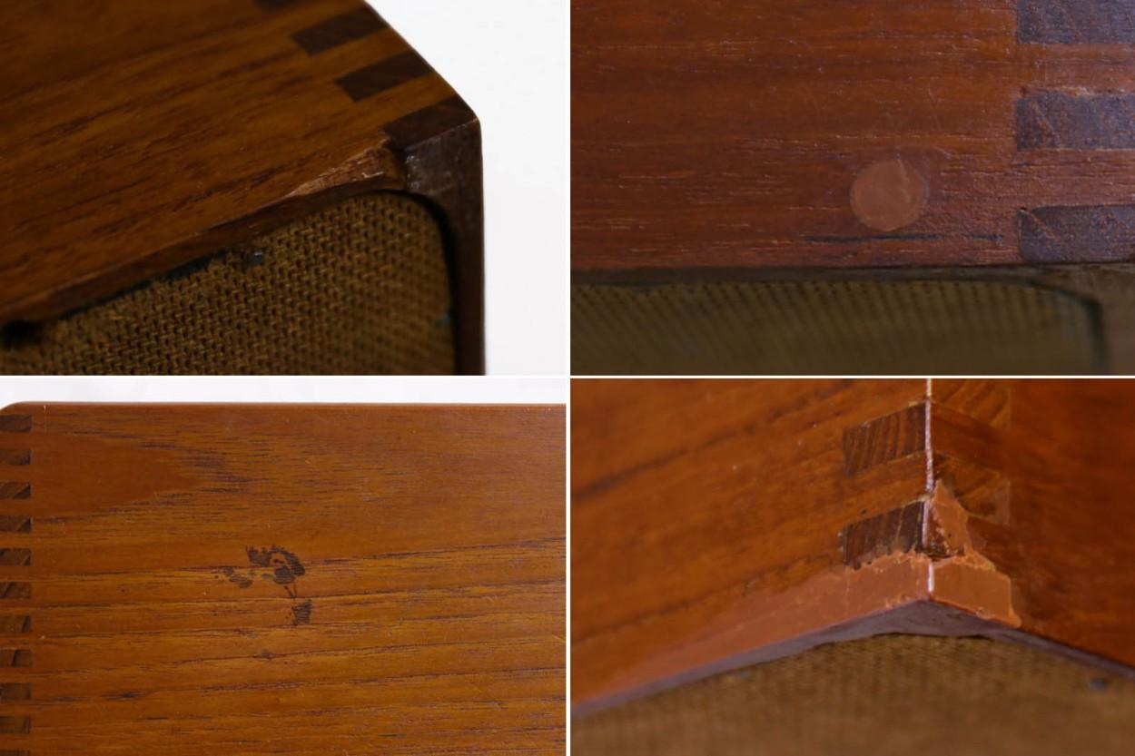 スウェーデン製 チーク無垢材 収納ボックス3点セット 北欧家具ビンテージ/DK11227
