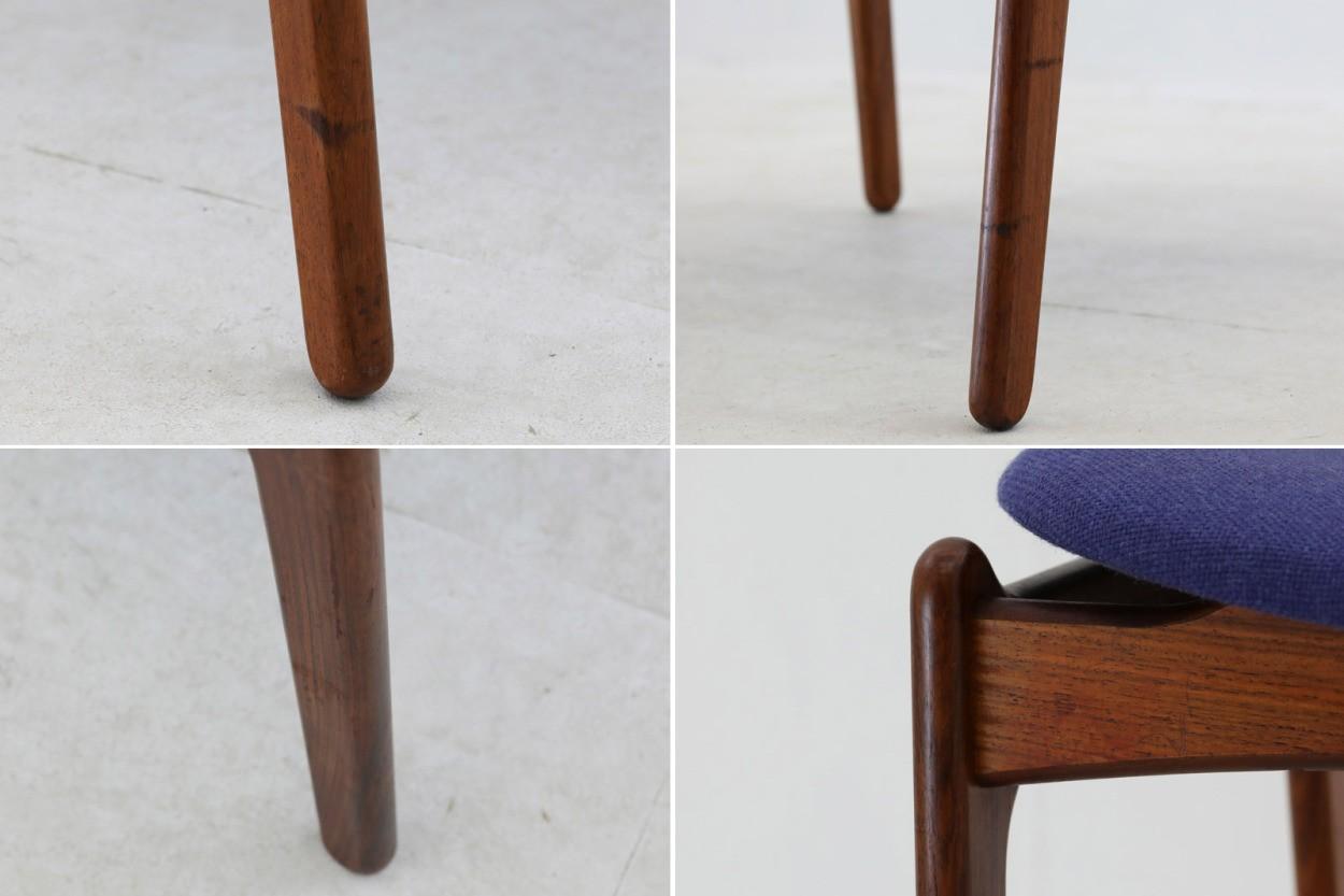 Erik Buch(エリック・バック) チェア Model49 ローズウッド材 デンマーク製 北欧家具ビンテージ/DK7735
