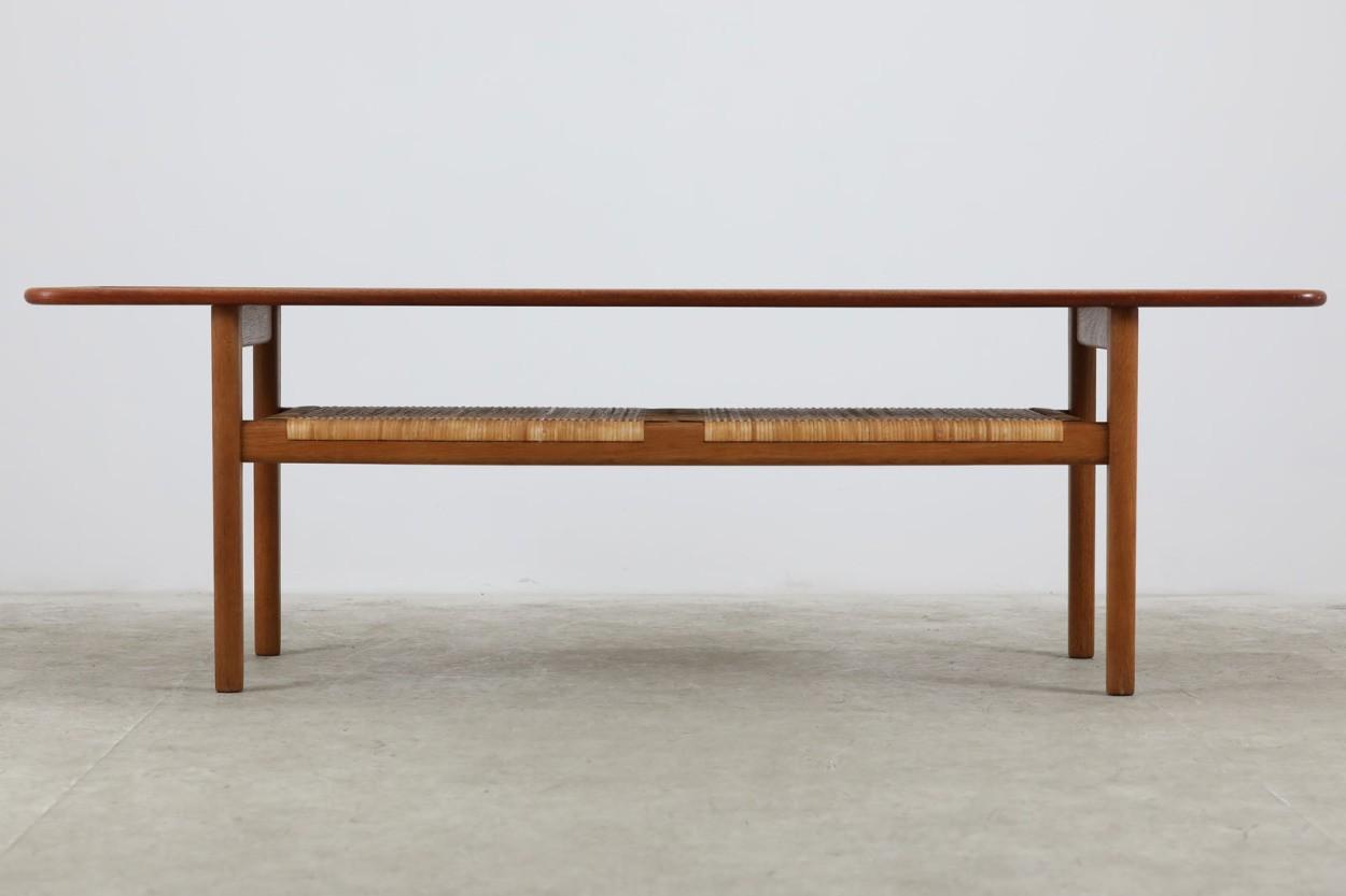 Hans J.Wegner(ハンス・J・ウェグナー) センターテーブル AT10 160cm チーク×オーク材 北欧家具ビンテージ デンマーク製/DK10504