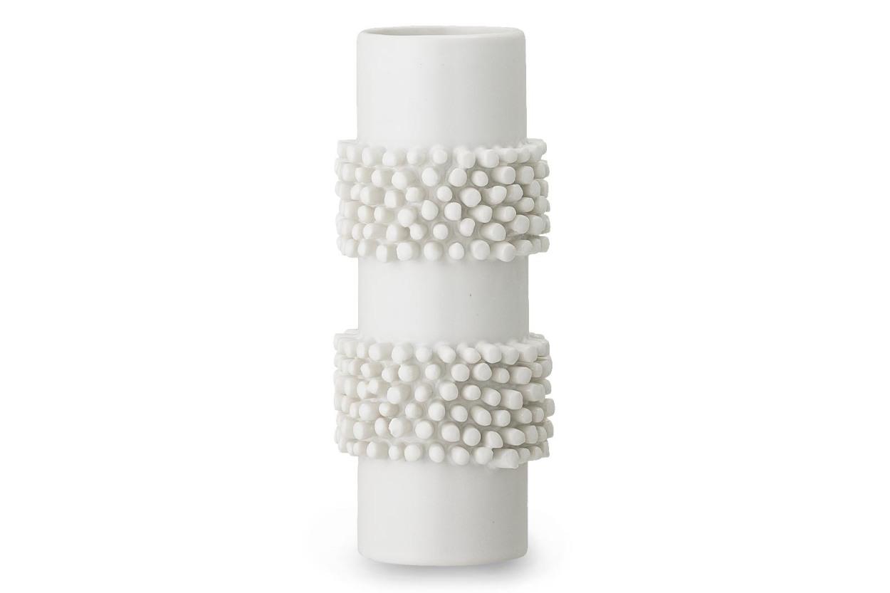 Bloomingville(ブルーミングヴィル) セラミック製のデザインフラワーベース ホワイトカラー