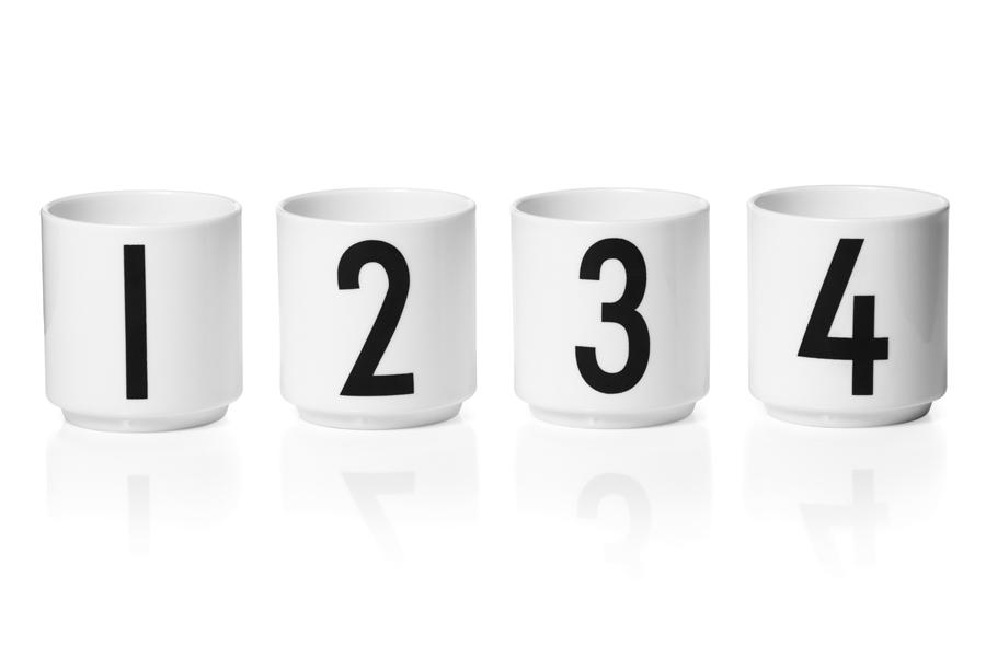 DESIGN LETTERS(デザインレターズ) Arne Jacobsen アルネ ヤコブセン ポーセリン製 エスプレッソカップ 4個セット