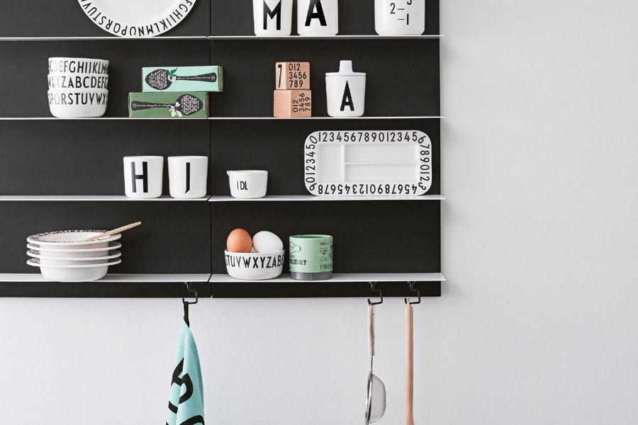 DESIGN LETTERS(デザインレターズ) Arne Jacobsen アルネ ヤコブセン メラミン製レクトアングルスナックプレート