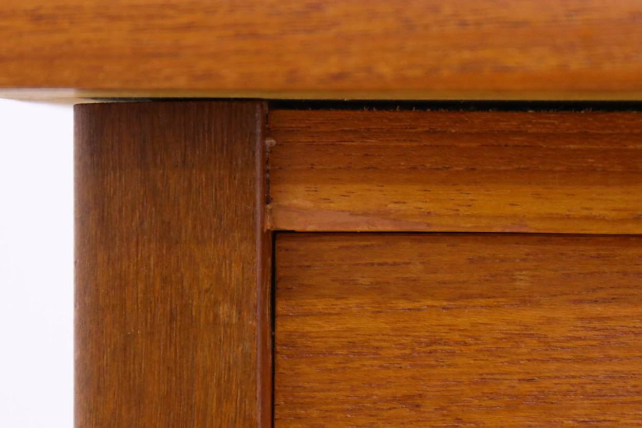 デンマーク製 小ぶりな片袖デスク チーク材 北欧家具ビンテージ/DK10735