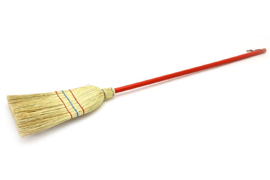 REDECKER(レデッカー) 赤い柄の短めの子供用ほうき 110cm