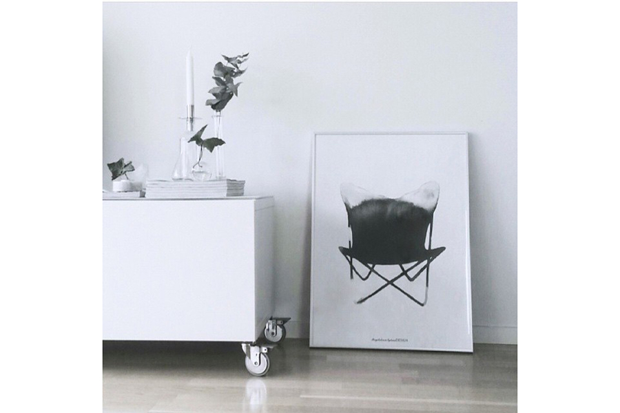 Magdalena Tyboni Design ポスター/アートプリント 50 x 70 cm Chair Butterfly