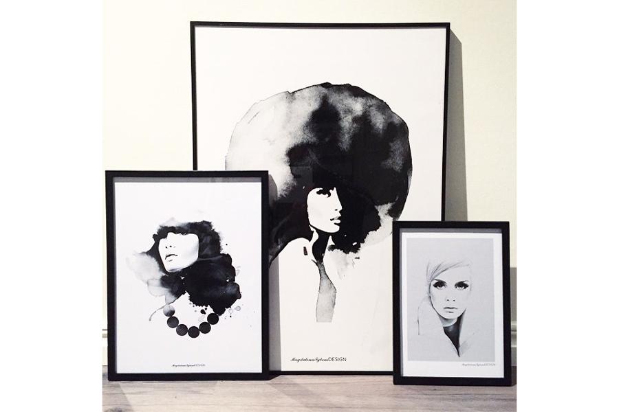 Magdalena Tyboni Design ポスター/アートプリント 50 x 70 cm Woman with big haircut