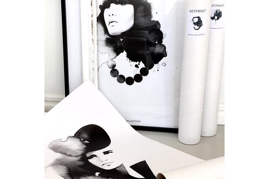 Magdalena Tyboni Design ポスター/アートプリント 30 x 40 cm Mademoiselle