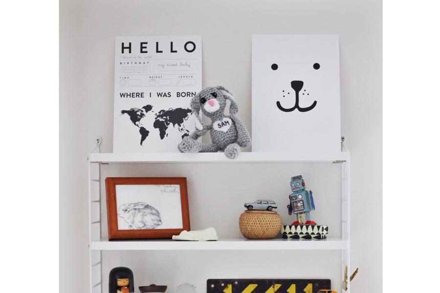 TELLKIDDO ポスター/アートプリント A4 Animal face: Bear