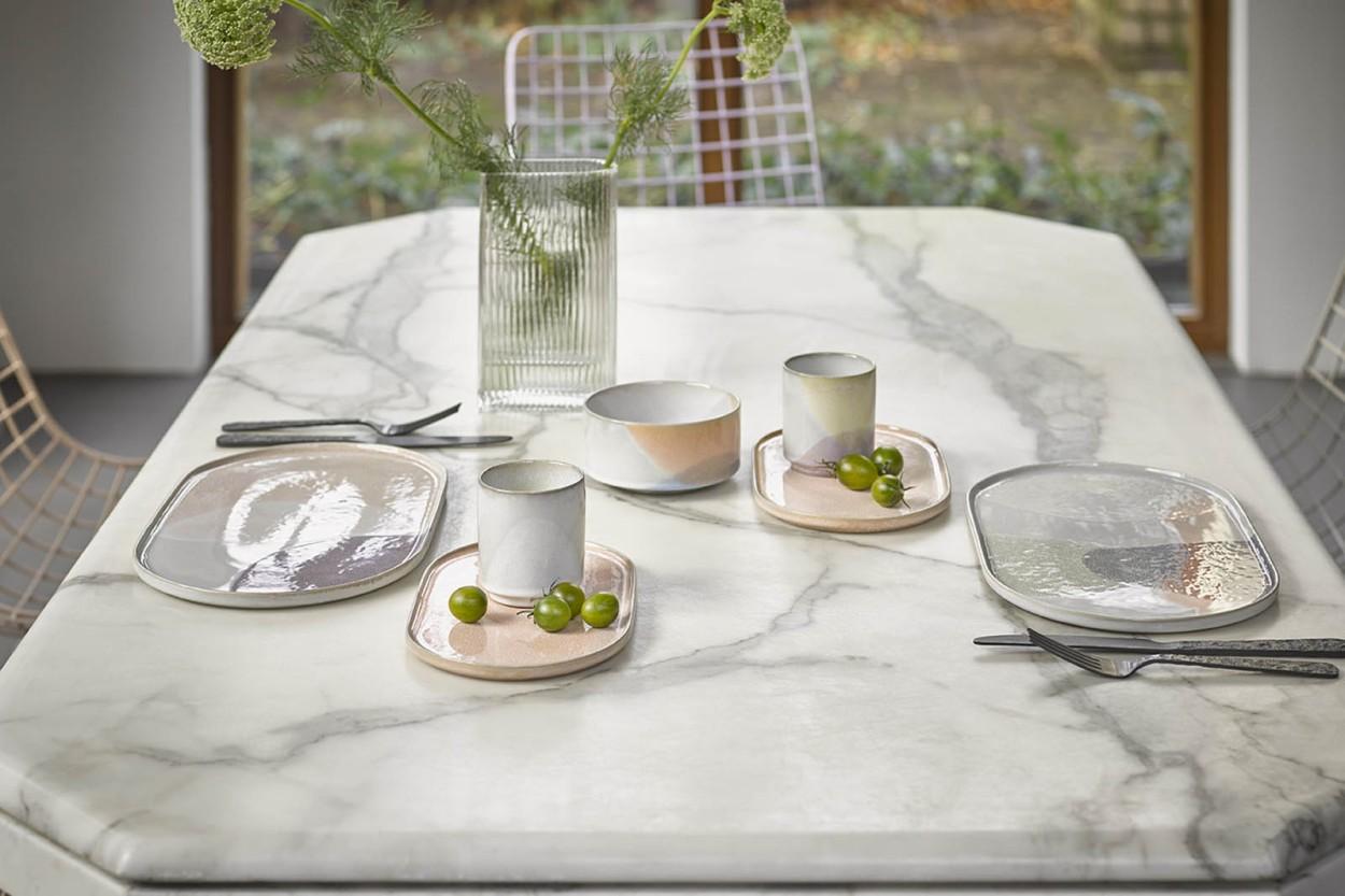 HKliving 美しいクリアガラスのフラワーベース 2点セット