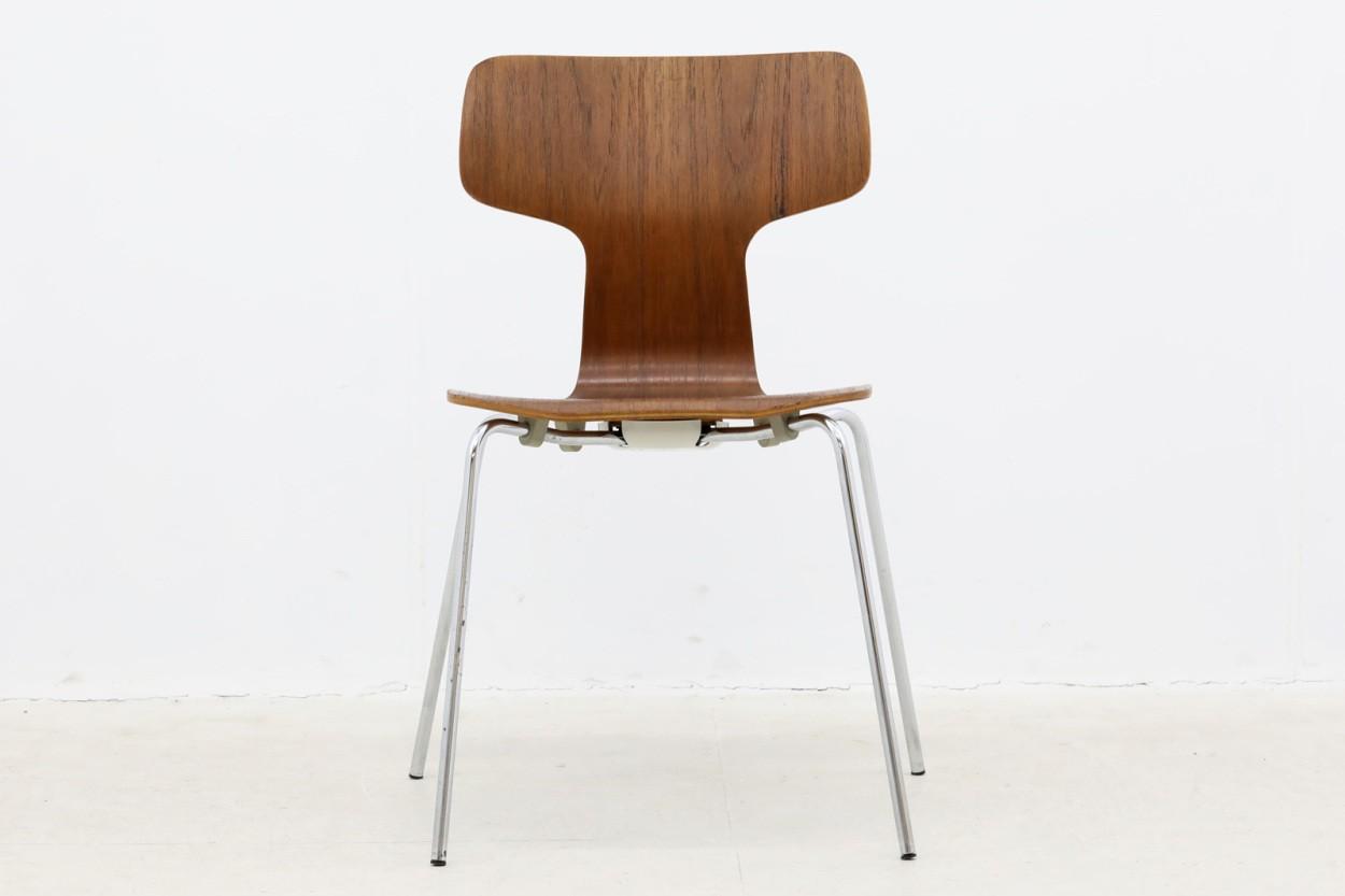 Arne Jacobsen(アルネ・ヤコブセン)Tチェア チーク材 北欧家具ビンテージ/DK10665