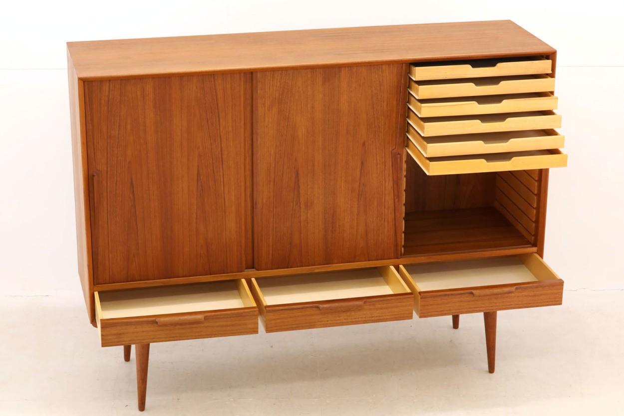 デンマーク製 Omann Jun(オーマン・ユン) サイドボード チーク材 北欧家具ビンテージ/DK10361